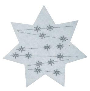 Etoile en feutrine avec motif cristal de glace