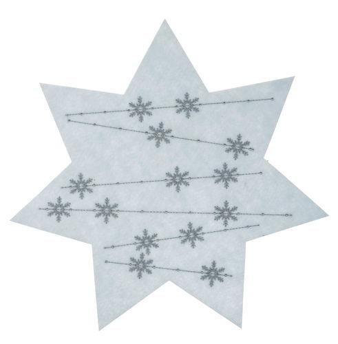 Etoile En Feutrine Avec Motif Cristal De Glace Opitec