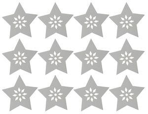 Houten strooidelen 'Ster' (4,5 cm) 12 stuks