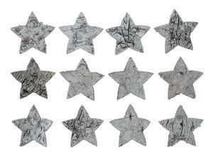 Berkenschors sterren (5 cm) wit, 12 stuks