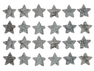 Berkenschors sterren (3 cm) wit, 24 stuks