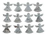 Birkenrinden-Engel, 12 Stück weiß (5 cm)