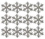 Berkenschors sneeuwvlokken (6 cm) wit, 12 stuks