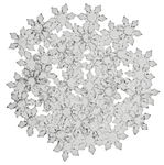 Acryl IJskristallen (28 mm) 48 stuks