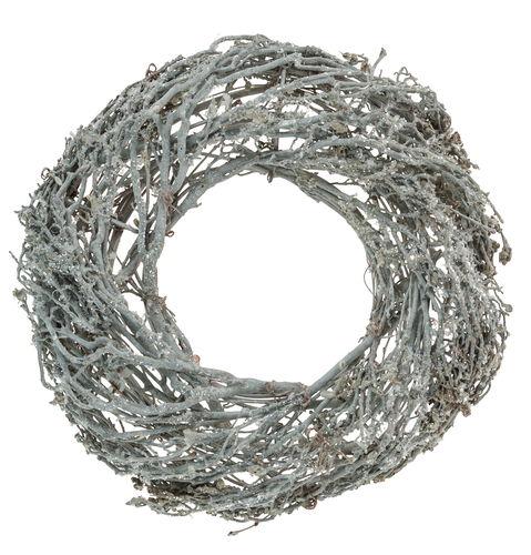 deko kranz grau wei beschneit 26 cm opitec. Black Bedroom Furniture Sets. Home Design Ideas