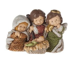 Dekofigur Maria mit Kind Resin (5,4 x 3 x 3,9 cm)