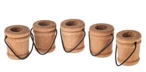 Secchielli di legno