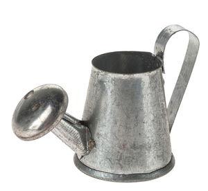 Miniatuur - metalen gieter (3 cm) zilver