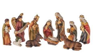 Resin - Kerststal figuren (2 - 7 cm) 11-delig