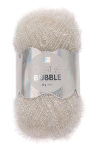 Creative Bubble Garn 50g/90m, weiß