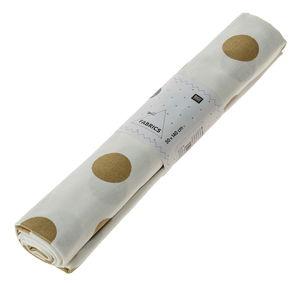 Baumwollstoff, Punkte weiß/gold (50 x 140 cm)