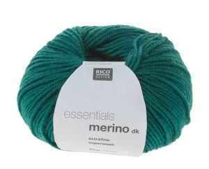 Essentials Merino DK scheerwol (50g/120m) d.groen