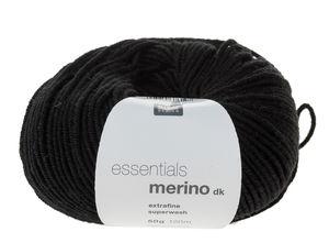 Essentials Merino DK scheerwol (50g/120m) zwart