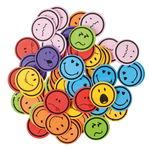 Moosgummi Smileys, 60 Stück selbstklebend (35 mm)