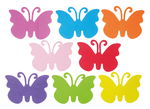 Moosgummi Schmetterlinge, 8 Stück bunt (15x11 cm)