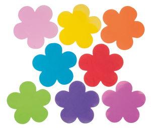 Foam bloemen (11,5 cm) kleurrijk, 8 stuks