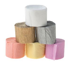 Lote de cintas de papel crepé - Pastel, 6 ud.