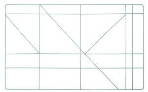Metalen frame - hoekig (47 x 75 cm) mint