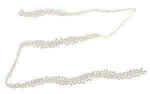 Papieren slinger - Bladeren (150 cm) parelwit