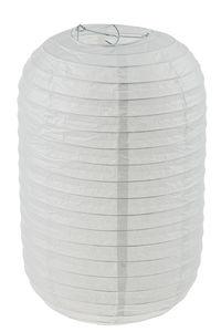 Lampion en papier ovale, blanc (25 x 25 x 40 cm)