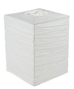 Papieren lampion rechthoek (30 x 30 x 40 cm) wit