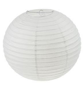 Papier-Lampion, rund weiß (ø 40 cm)