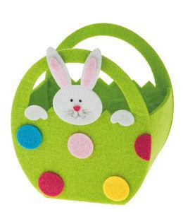 Sac en feutrine lapin, vert/multicolore