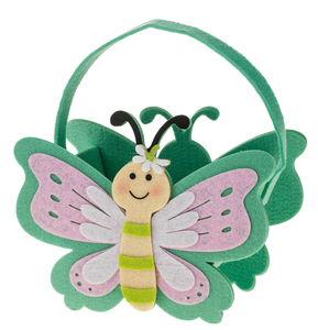 Sac en feutrine papillon, vert menthe