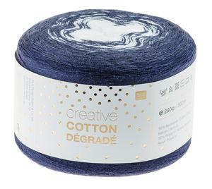 Creative Cotton dégradé 200g/800m, marine/weiß