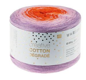 Creative Cotton dégradé 200g/800m, rosa/orange