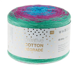 Creative Cotton dégradé 200g/800m, mint/pink/blau