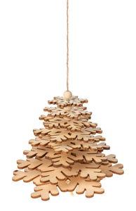 Bastelset Holz-Tannenbaum zum Hängen (90x100mm)