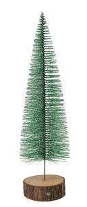 Deko-Tannenbäumchen beschneit, grün (8 x 29 cm)