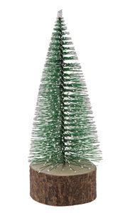 Sapin déco enneigé, vert (4,5 x 12 cm)