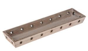 Holz-Tablett natur geweißt (40 x 10,5 x 4 cm)