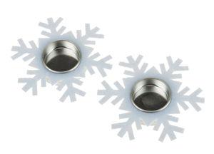 Filz-Teelichthalter Schneeflocke, 2 Stück (11 cm)