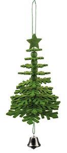 Bastelset Filzbaum zum Hängen, grün (11 x 17 cm)