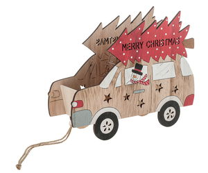 Cassetta in legno - auto Merry Christmas