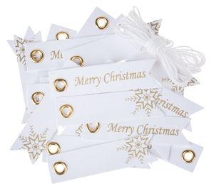 Mini papieren labels - Merry Christmas, 21-dlg