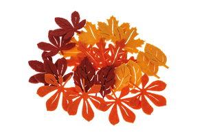 Vilten herfstblaadjes (45-50 mm) 24 stuks