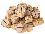 Holz-Kartenhalter, 500 g natur/gold