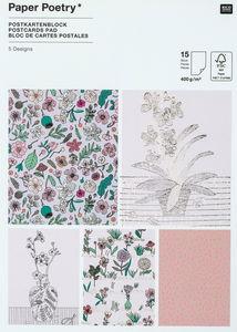 Postkarten-Block, 15 Karten Hygge Plants