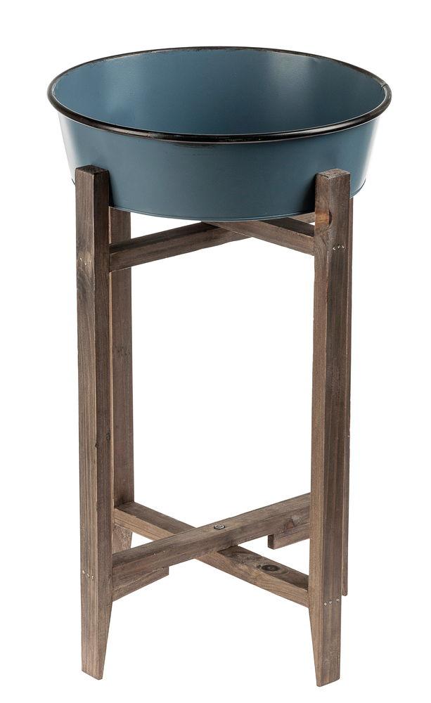 138153 cadre bois bassine zinc. Black Bedroom Furniture Sets. Home Design Ideas
